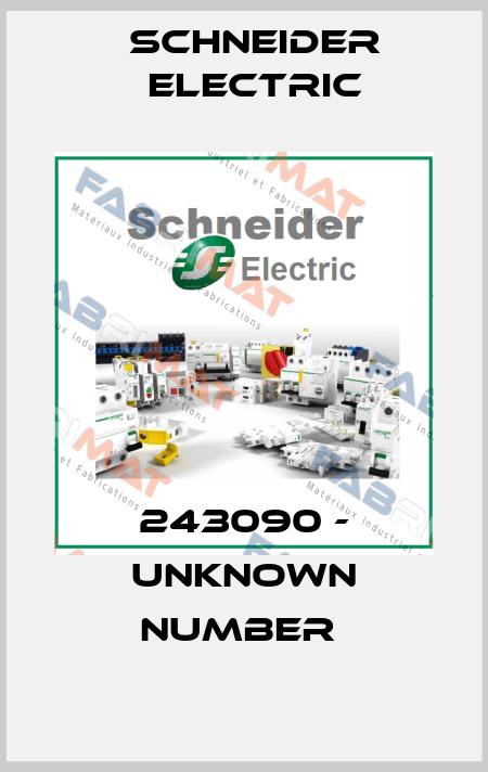 Schneider Electric-243090 - UNKNOWN NUMBER  price
